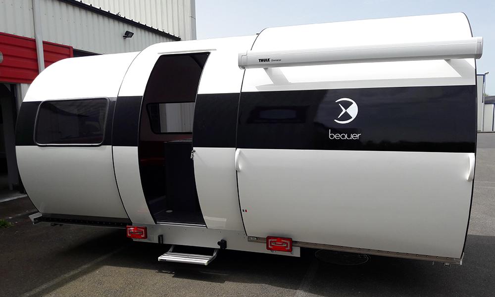 Beauer caravane 3X - Blanc/noir
