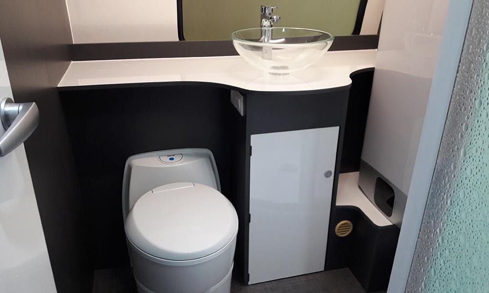 Beauer caravane 3XPlus - Salle de bain
